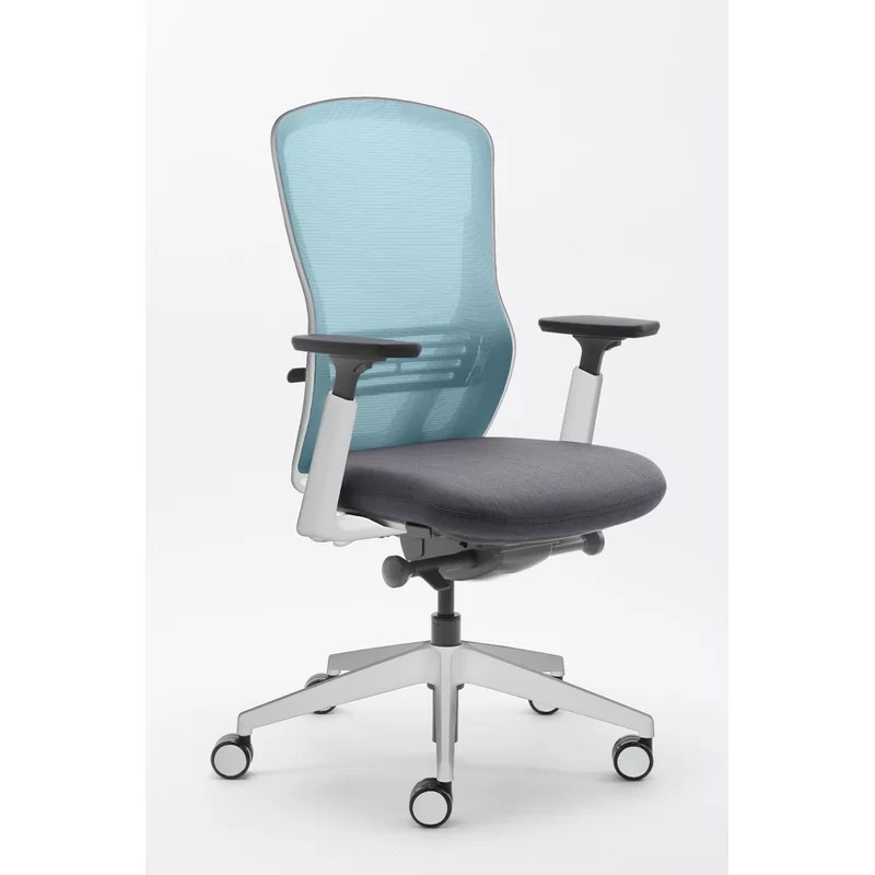 turquoise office chair wooden accessories senator ousby mesh wayfair