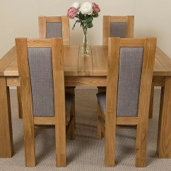 Oak Kitchen Table Free Standing Storage Goolsby Solid Dining With 4 Chairs