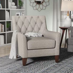 accent chair for living room contemporary leather furniture tall chairs wayfair quickview