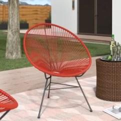 Cheap Plastic Outdoor Chairs White Dining Table Black Retro Metal Patio Wayfair Bradley Acapulco Papasan Chair