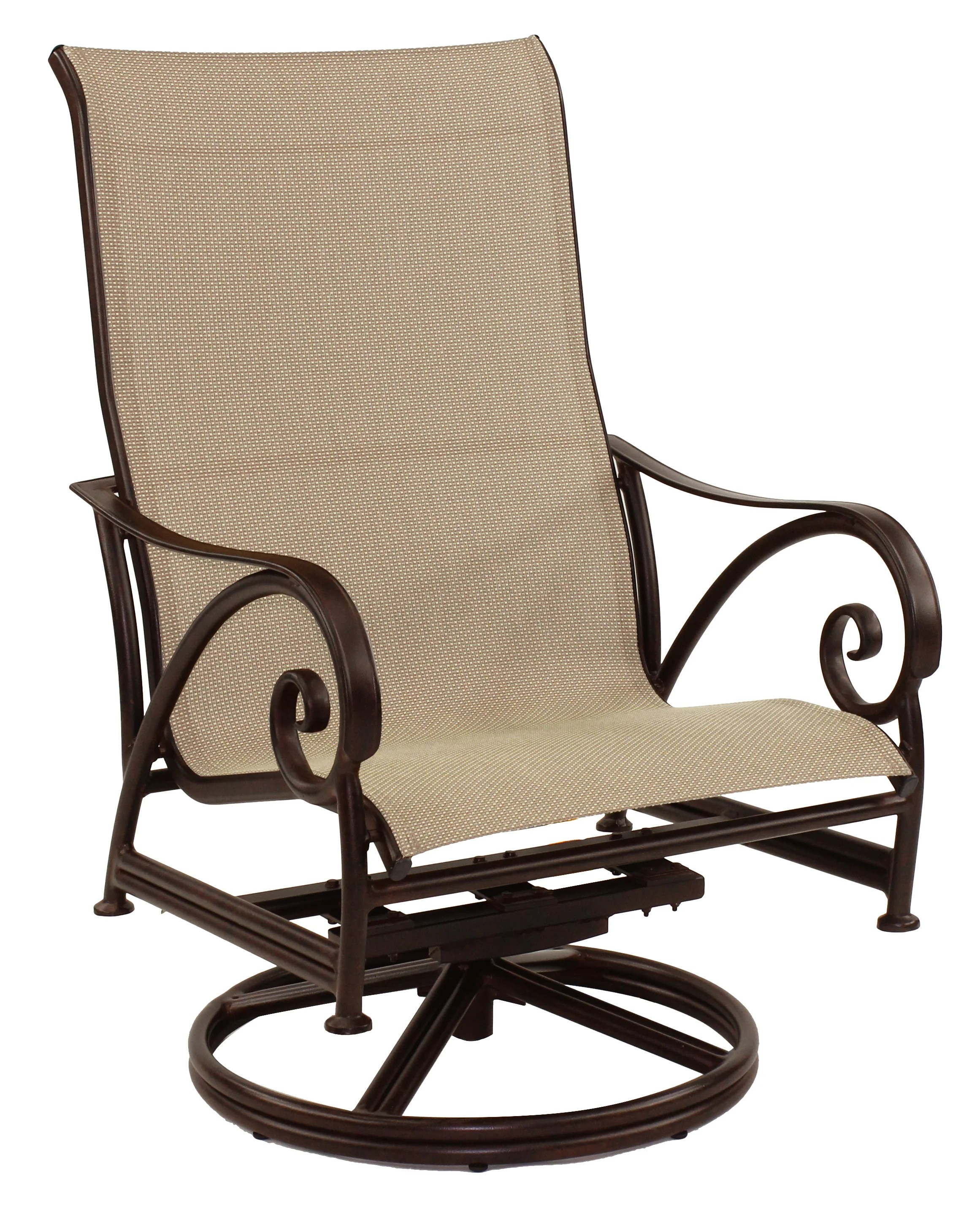 Swivel Rocking Chairs Lucerne Sling Swivel Rocking Chair