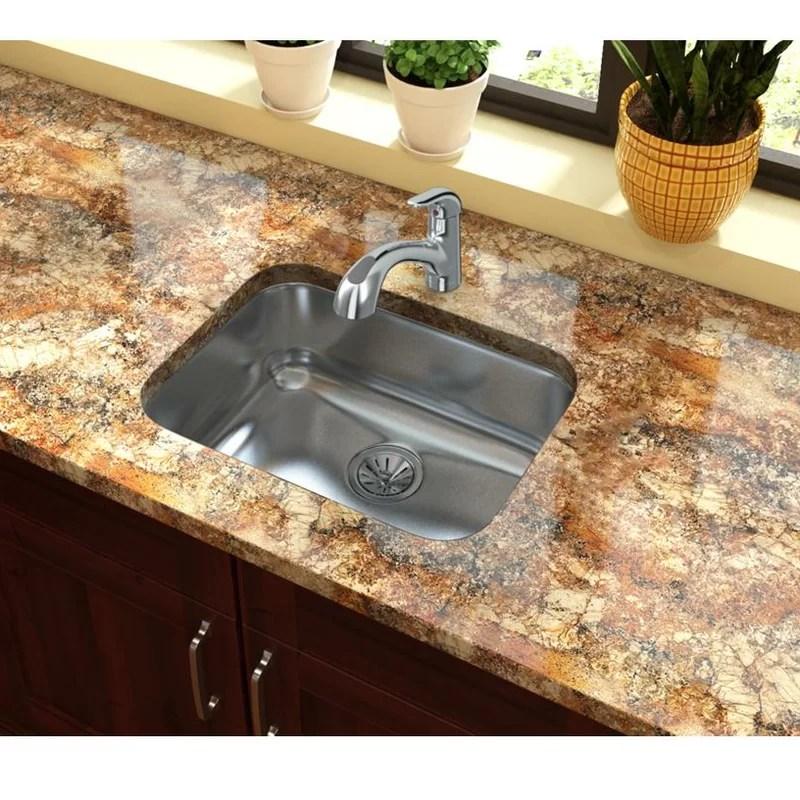 24 kitchen sink colorful cabinets elkay x 18 undermount wayfair