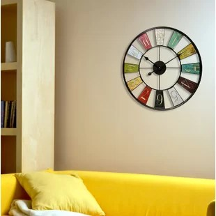 living room clocks next accessories online oversized wall you ll love wayfair quickview