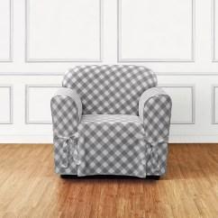 Buffalo Check Sofa Cover Leopard Set Sure Fit Box Cushion Slipcover