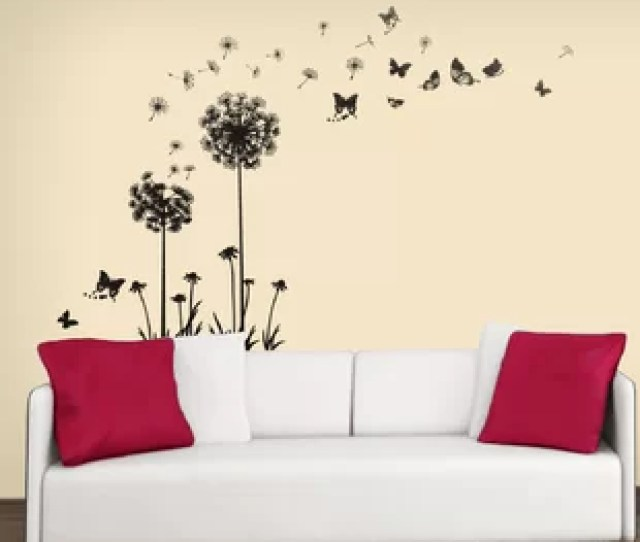 Transparent Dandelion Wall Decal
