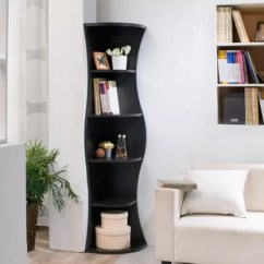 Bookcase Cabinets Living Room Pictures Of Beautiful Rooms Curved Wayfair Corner