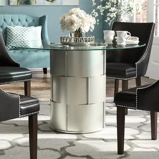 mirror living room tables decorate narrow rectangular glass dining table wayfair cliburn drum