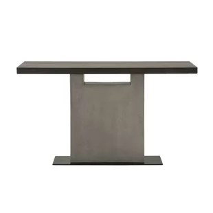 black lacquer sofa table blended leather wayfair ca metal base with acaia wood top slate grey and espresso brown