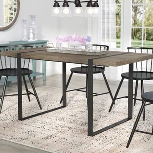 kitchen table covered outdoor dining tables you ll love wayfair ca madelyn urban blend wood