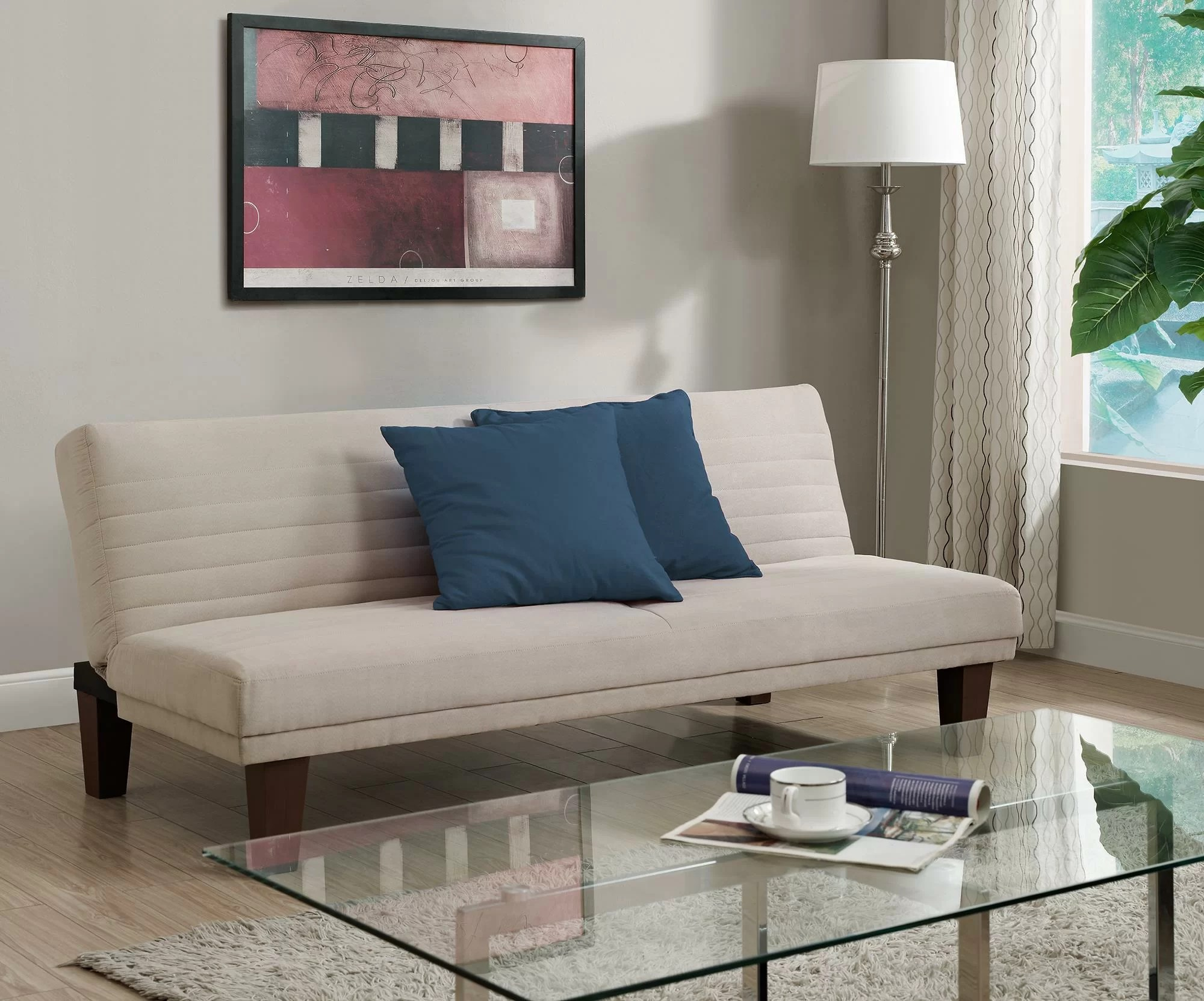 bianca futon sofa bed review pine tables zipcode design convertible reviews wayfair