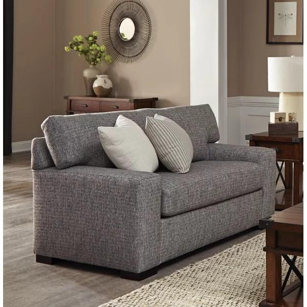 overnight sofa retailers reclining leather loveseat 22 382 sl electra black birch lane