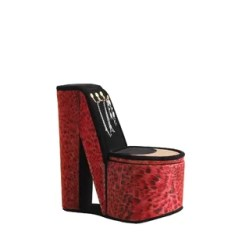Leopard High Heel Shoe Chair Round Table 6 Chairs Dimensions Wayfair Iridescent Print Display Jewelry Box With Hooks