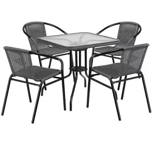 outdoor high top table and chairs set hickory white french bistro wayfair quickview