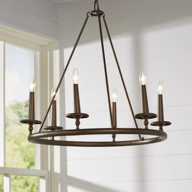 Bedford 6 Light Candle Style Chandelier