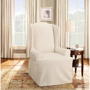 loose chair covers dublin folding visitor wing slipcovers you ll love wayfair quickview