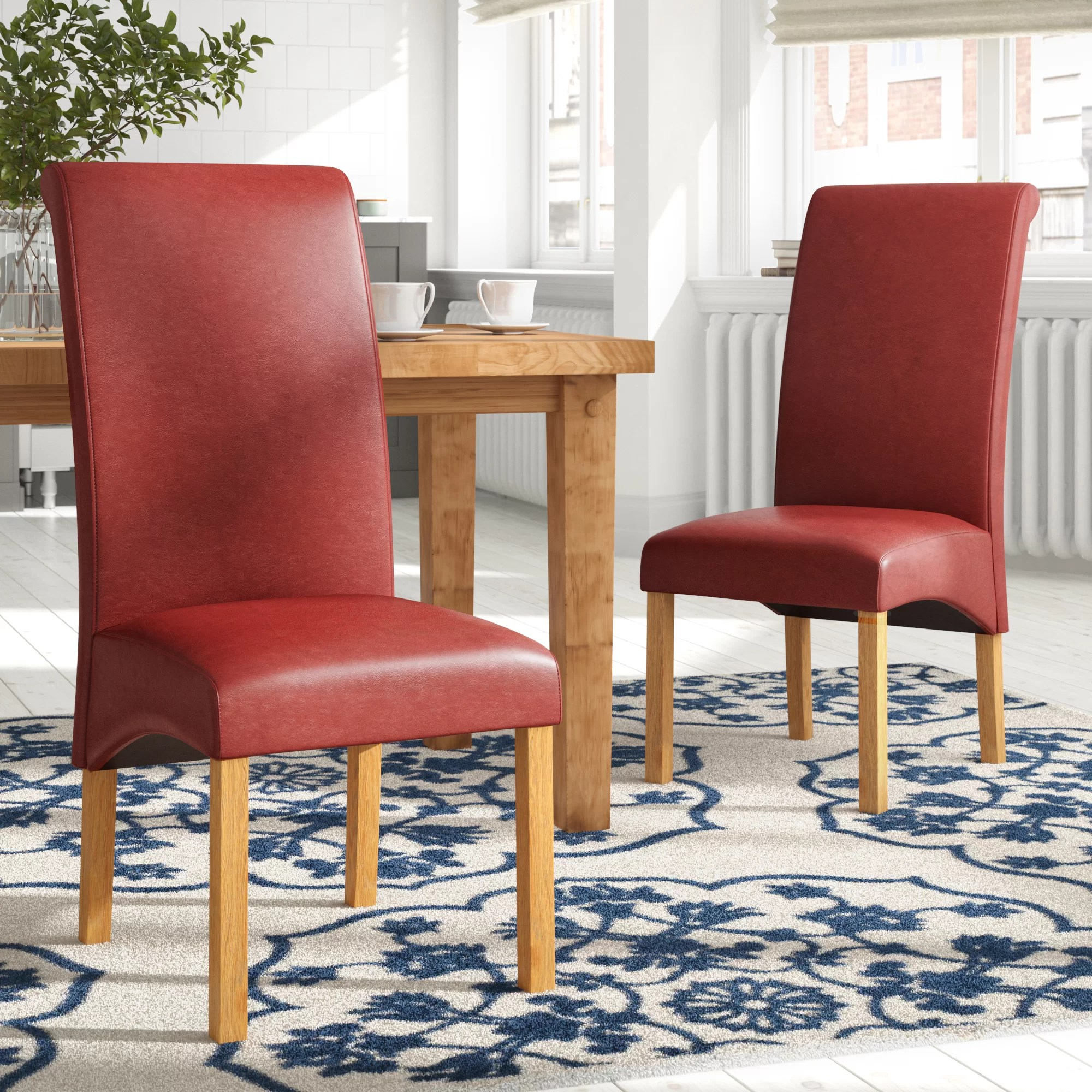 Red Upholstered Dining Chairs Collman Upholstered Dining Chair
