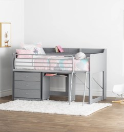 mack milo alcester twin low loft bed with desk and storage reviews wayfair [ 3646 x 3646 Pixel ]