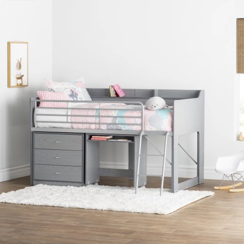 small resolution of mack milo alcester twin low loft bed with desk and storage reviews wayfair