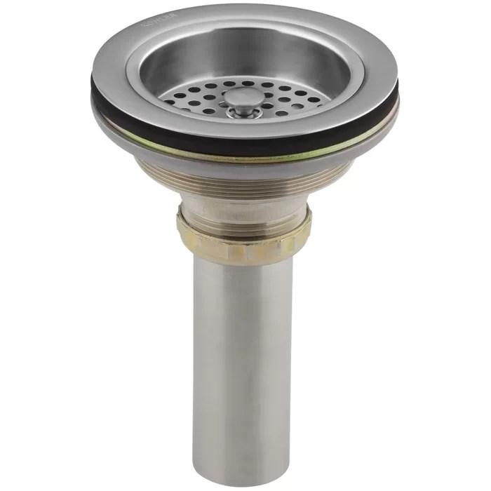 kitchen sink drain refurbished cabinets for sale duostrainer manual 1 5 grid kohler reviews wayfair ca