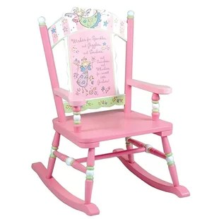 personalized rocking chair for toddlers queen anne dining room chairs kids you ll love wayfair wildkin fairy wishes