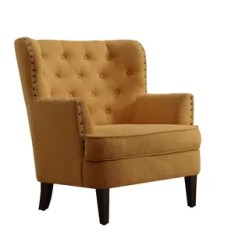 Cynthia Rowley Nailhead Accent Chair Hanging Wicker Egg With Stand Mustard Wayfair Quickview