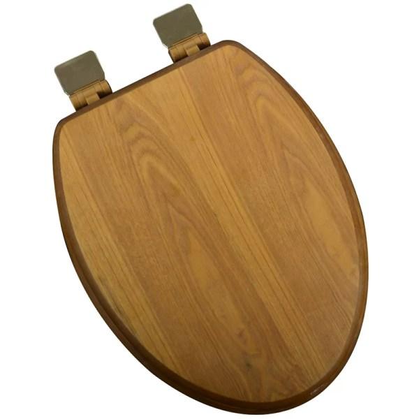 Elongated Wood Toilet Seat