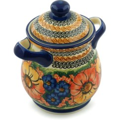 Kitchen Pottery Canisters Sink Air Gap Polmedia Polish Bright Beauty With Lid And Handles Canister