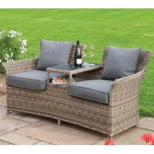 2 seater love chair jrc fishing accessories rattan companion seat wayfair co uk addie