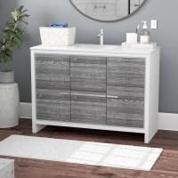 "Mercury Row Bosley 48"" Single Sink Modern Bathroom Vanity ..."