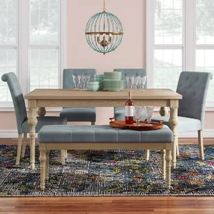 kitchen table set with bench grills 6 piece dining room sets you ll love wayfair quickview
