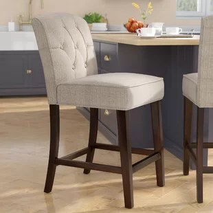 bar stool chairs dining table glass top 6 stools you ll love wayfair cayman 26 counter