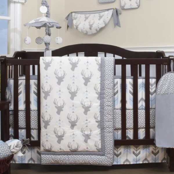Viv Rae Doug Deer Nursery Arrow 13 Piece Crib Bedding Set &