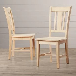 unfinished wooden chairs cheap cracker barrel dining you ll love wayfair quickview