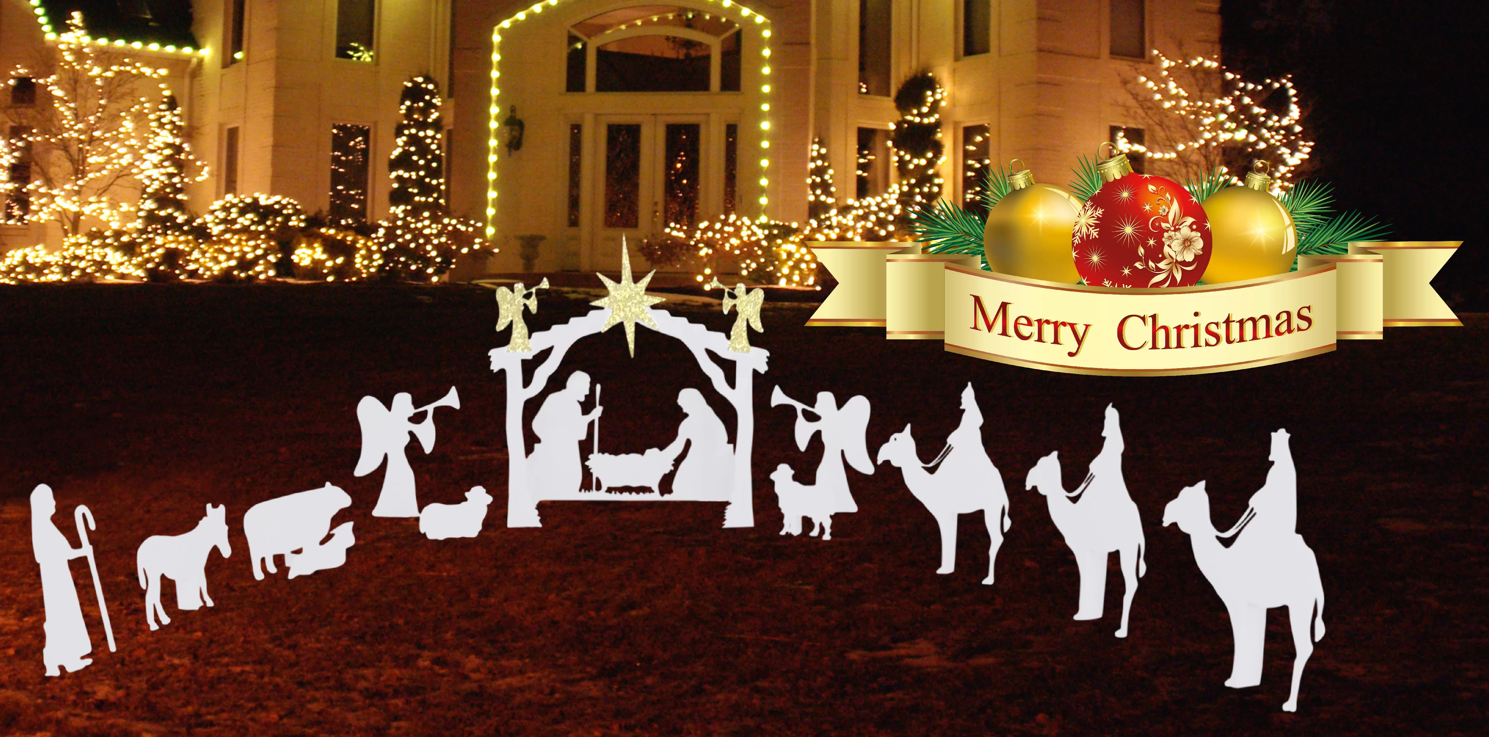Religious Christmas Outdoor Decorations