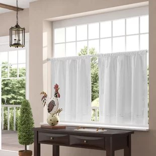 kitchen curtain sets sink faucet with sprayer window valances cafe curtains you ll love wayfair quickview