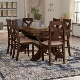 dining room tables and chairs ergonomic office chair singapore kitchen sets you ll love isabell 7 piece set
