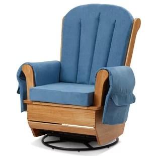 nursing glider or rocking chair full body massage chairs double wide rocker nursery wayfair by l a baby