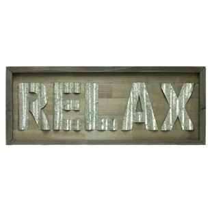 Relax Sign  Wayfair