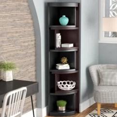 Bookcase Cabinets Living Room Tiles Design India Curved Wayfair Bridges Corner Unit