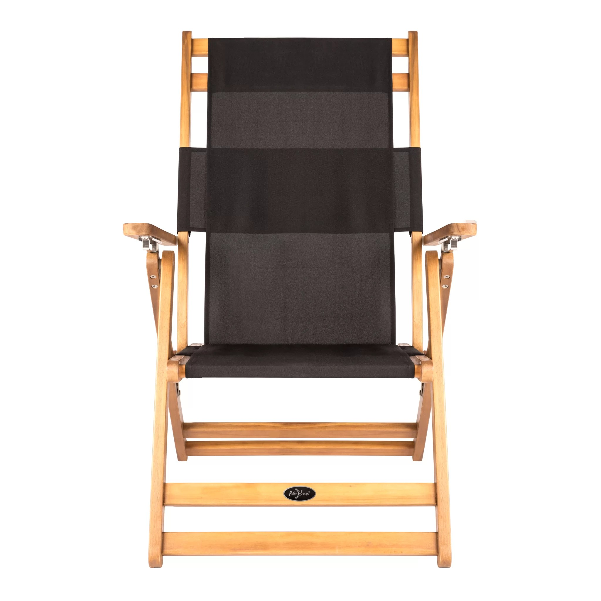 Folding Wood Beach Chair Varadero Reclining Folding Beach Chair