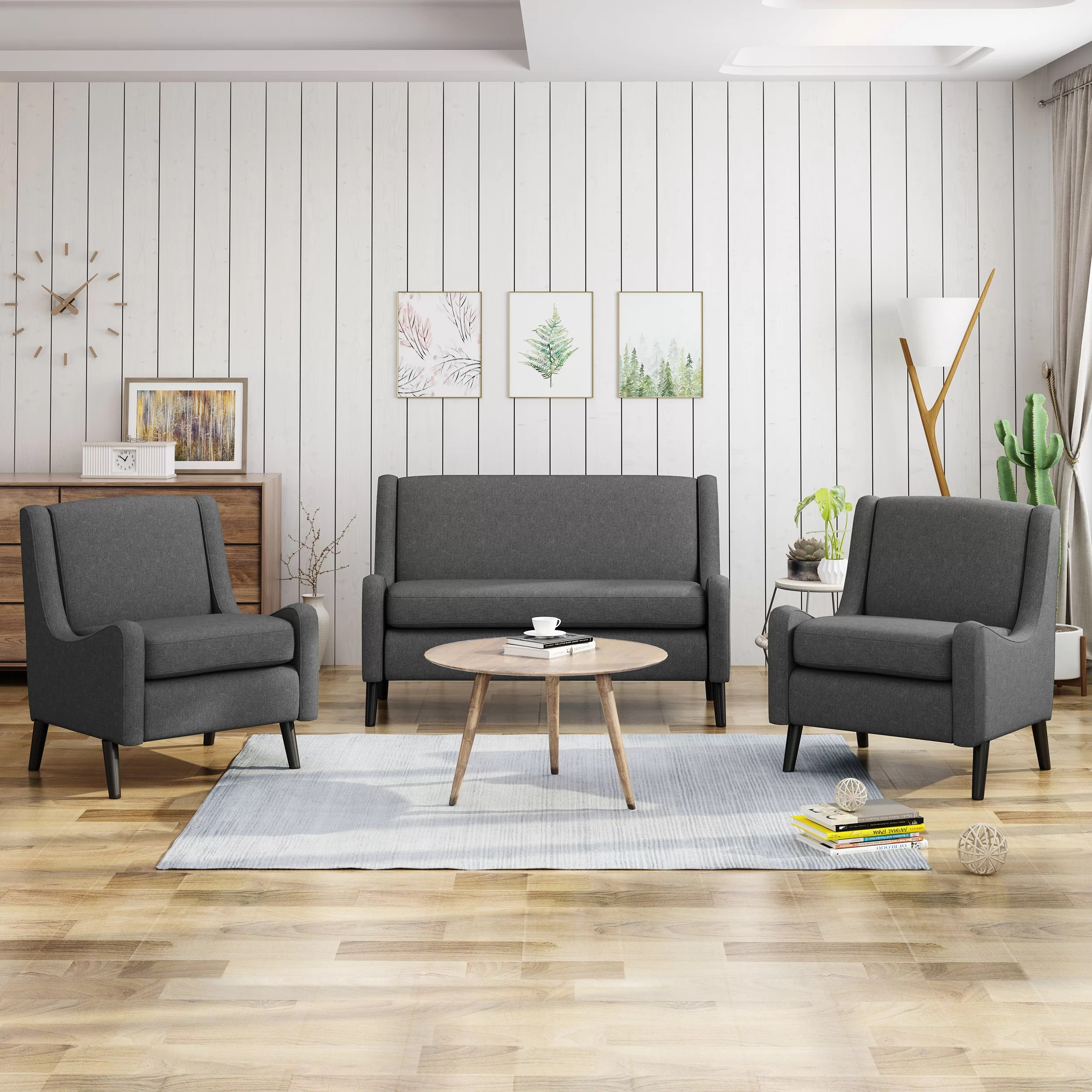 four club chairs in living room simple curtains for brayden studio lafrance 3 piece set wayfair