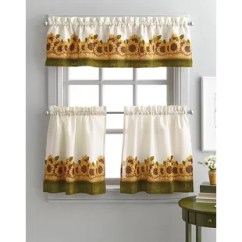 Kitchen Swags Islands For Small Kitchens Farmhouse Curtains Wayfair Pierceton Sunflower Graden 3 Piece