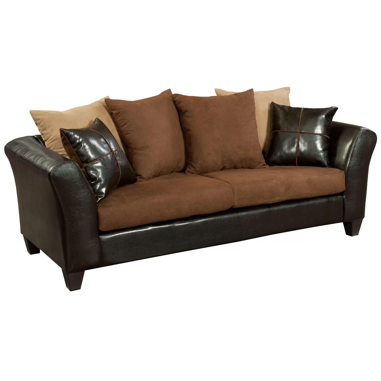 microfiber sofas restoration hardware chesterfield sofa latitude run dilorenzo wayfair