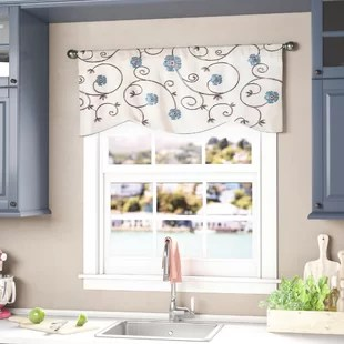 living room window valances interior design for apartment cafe kitchen curtains you ll love wayfair steinke scrolling 42 valance