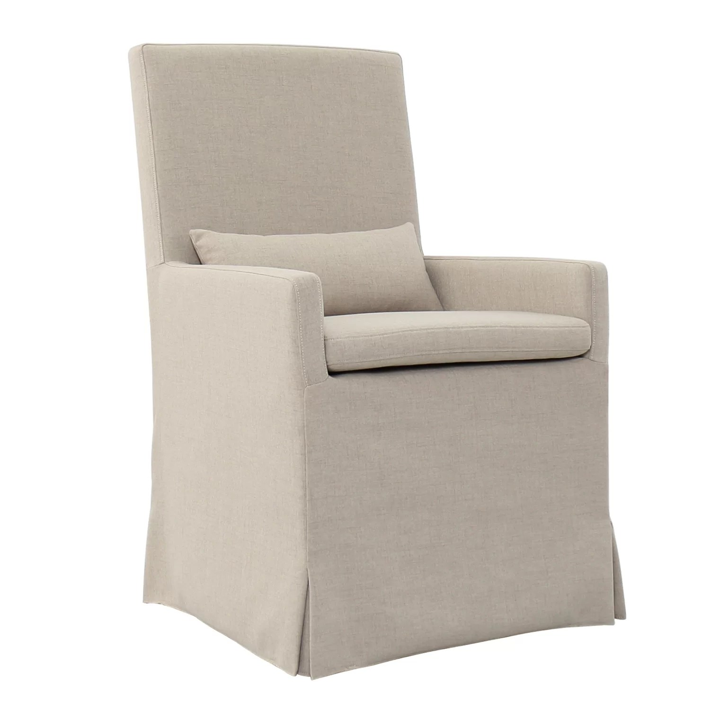 upholstered arm dining chair sleeper sofa gracie oaks hoang wayfair