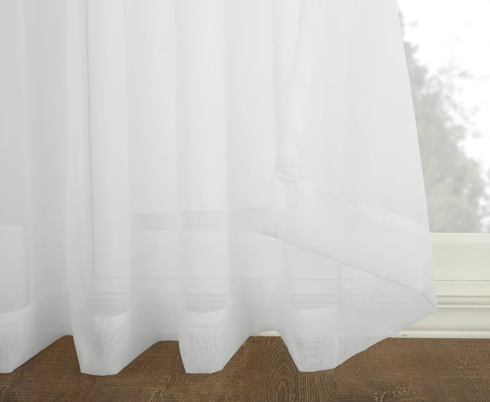 No 918 Emily Voile Sliding Door Patio Solid SemiSheer Grommet Single Curtain Panel  Reviews