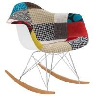 Padded Patchwork Rocking Chair   AllModern