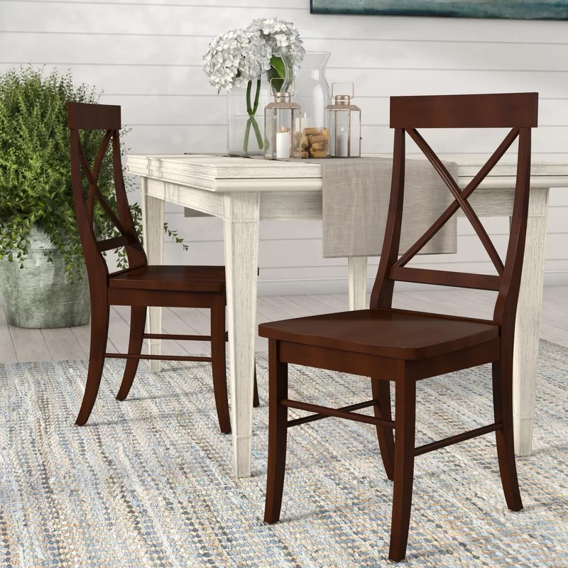 solid wood chairs chair leg glides beachcrest home brookwood side reviews wayfair