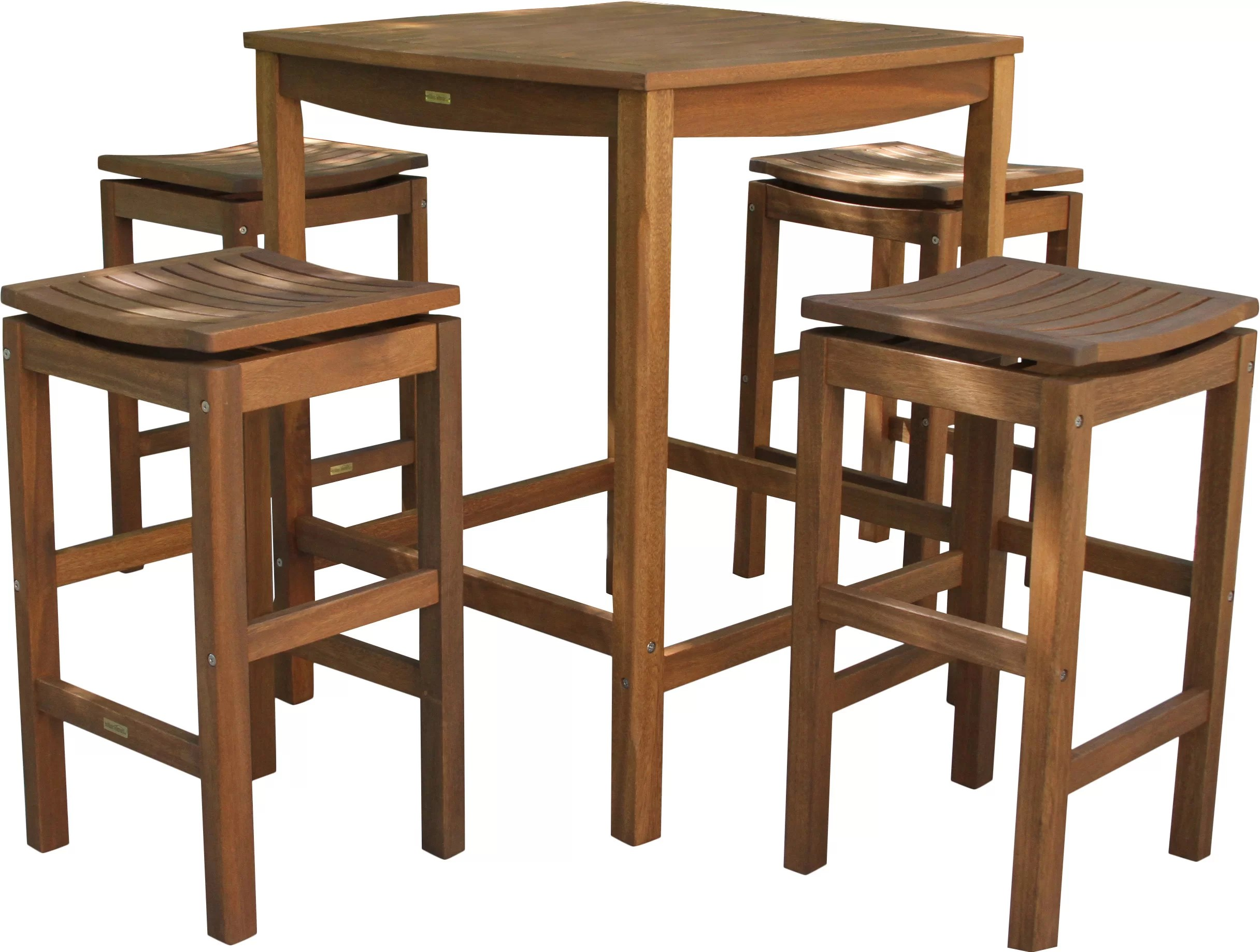 Bar Height Table And Chairs Mallie 5 Piece Bar Height Dining Set