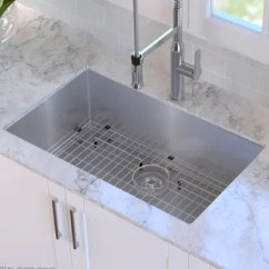 Sinks Kitchen Pantry Cabinet Ikea You Ll Love Wayfair Ca 30 X 18 Undermount Sink With Grid And Drain Assembly